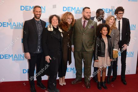 Rob Simonsen, Anna Cottis, Clementine Celarie, Antoine Bertrand, Omar Sy, Gloria Colston, Clemence Poesy and director Hugo Gelin