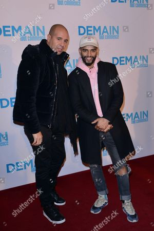 Brahim Zaibat (right) and guest