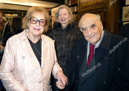 'Antonia Fraser: My History: A Memoir of Growing Up' Book Launch Party at Henry Sotheran's Mayfair Lady Antonia Fraser with Lady Annabelle and Lord George Weidenfeld