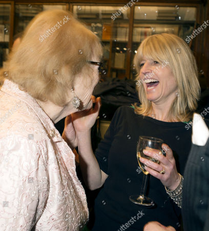 Stock Picture of 'Antonia Fraser My History: A Memoir of Growing Up' Book Launch Party at Henry Sotheran's Mayfair Lady Antonia Fraser and Rachel Johnson