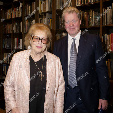 'Antonia Fraser: My History: A Memoir of Growing Up' Book Launch Party at Henry Sotheran's Mayfair Lady Antonia Fraser and Earl Charles Spencer