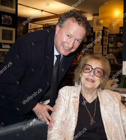 'Antonia Fraser - My History: A Memoir of Growing Up' Book Launch Party at Henry Sotheran's Mayfair Orlando Fraser with His Mother Lady Antonia Fraser