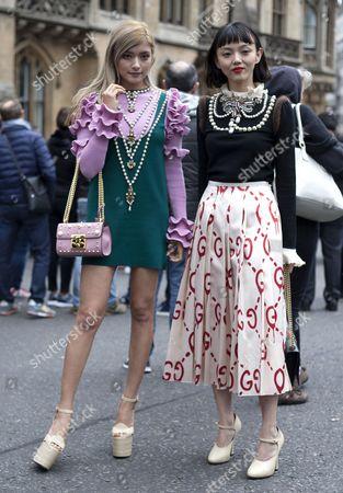 Japanese fashion models Rola and Rila Fukushima