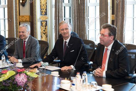 Didier Reynders, King Philippe, Rudy Demotte