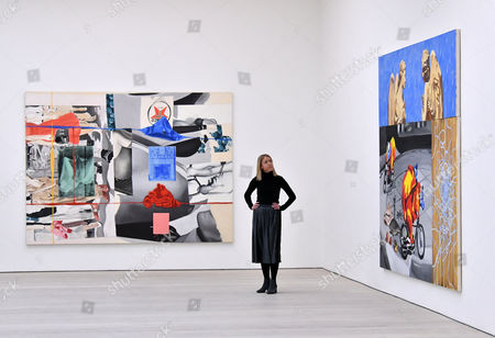 'Picture Builder', 1993, and 'Anglers in the Rain', 1998 by David Salle