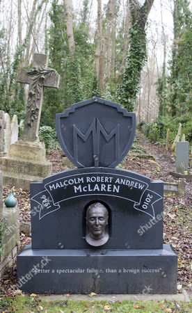 Malcolm McLaren grave in Highgate cemetery