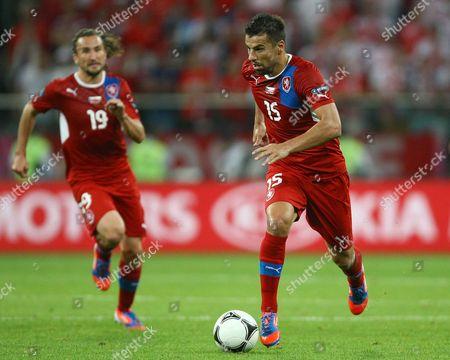 Milan Baros of Czech Republic at the Municipal Stadium, Wroclaw