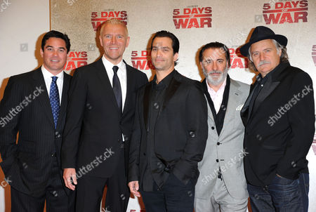 '5 Days of War' Uk Premiere at Bafta Piccadilly Dean Cain Director Renny Harlin Jonathan Schaech Andy Garcia and Rade Serbedzija