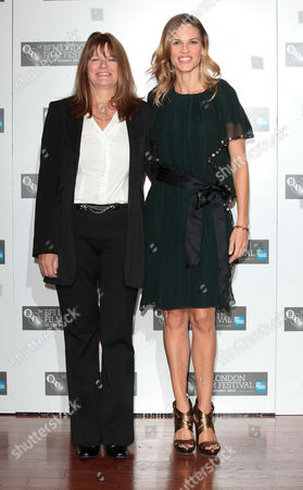 Stock Image of 'Conviction' Photocall During the London Film Festival at the Vue Leicester Square Betty Anne Waters and Hilary Swank Who Portrays Her in the Film