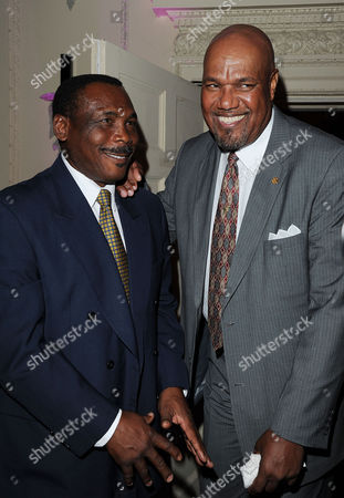 Stock Image of 'Fire in Babylon' European Premiere Afterparty at House of St Barnabas Soho Gordon Greenidge and Colin Croft