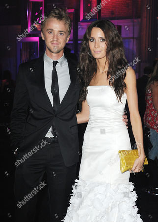 'Harry Potter and the Deathly Hallows: Part 2' World Premiere Afterparty at the Old Billingsgate Market Tom Felton with His Girlfriend Jade Gordon