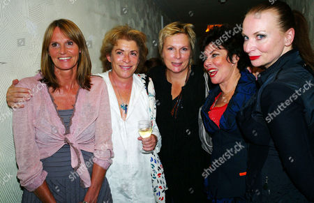 Stock Photo of 'Losing It' First Night Transfer at the Duchess Theatre Covent Garden Gwyneth Strong Suzanne Bertish Jennifer Saunders Ruby Wax and Judith Owen