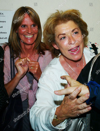 Stock Image of 'Losing It' First Night Transfer at the Duchess Theatre Covent Garden Gwyneth Strong and Suzanne Bertish