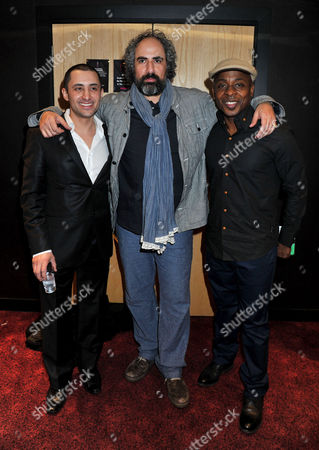 'Mercenaries' Uk Film Premiere at the Empire Leicester Square Robert Fucilla Stewart Scudamore and Vas Blackwood