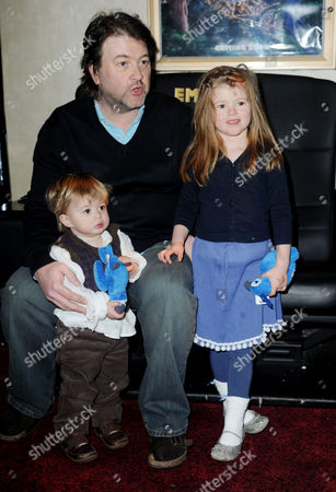 'Rio' Gala Screening at the Empire Leicester Square Derek Draper and His Children Darcey and William