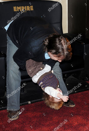 'Rio' Gala Screening at the Empire Leicester Square Derek Draper Plays with His Son William