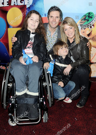 'Rio' Gala Screening at the Empire Leicester Square Lucy Alexander with Her Husband Stewart Castledine and Their Children Kitty and Leo