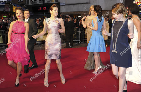 'Sucker Punch' Uk Premiere at the Vue Leicester Square Jamie Chung Emily Browning Carla Gugino and Jenna Malone Dance On the Red Carpet
