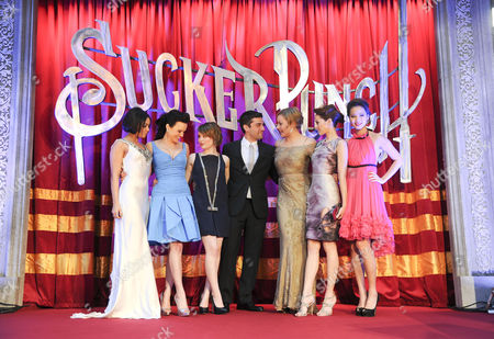 'Sucker Punch' Uk Premiere at the Vue Leicester Square Vanessa Hudgens Carla Gugino Jenna Malone Oscar Isaac Abbie Cornish Emily Browning and Jamie Chung