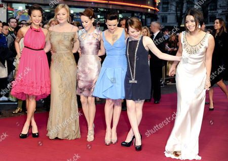'Sucker Punch' Uk Premiere at the Vue Leicester Square Jamie Chung Abbie Cornish Emily Browning Carla Gugino Jenna Malone and Vanessa Hudgens