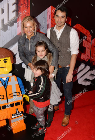 'The Lego Movie' Gala Screening at the Vue Westend Katy Hill with Her Husband Trey Farley and Their Children Kaya and Akira