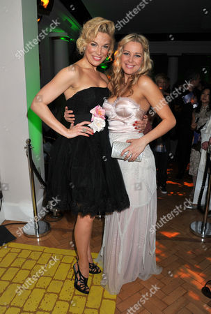 'The Wizard of Oz' Press Night Afterparty at One Marlborough Road Hannah Waddingham (wicked Witch of the the West) and Emily Tierney (appearing in Wicked)