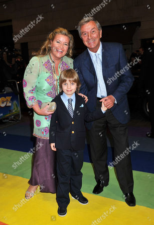 Stock Photo of 'The Wizard of Oz' Press Night Arrivals at the London Palladium Argyle Street Des O'connor with His Wife Jodie Brooke Wilson