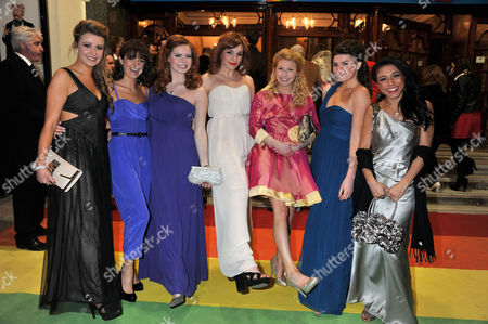 'The Wizard of Oz' Press Night Arrivals at the London Palladium Argyle Street Over the Rainbow Finalists (l-r) Emilie Fleming Lauren Samuels Sophie Evans Jessica Robinson Bronte Barbe Dani Rayner and Steph Fearon