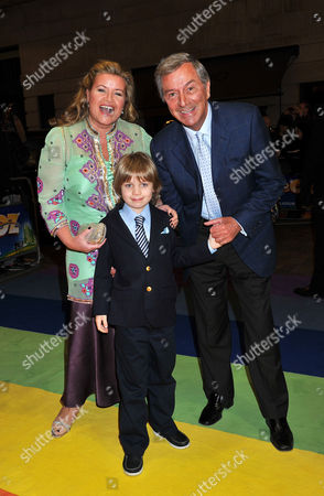 Stock Picture of 'The Wizard of Oz' Press Night Arrivals at the London Palladium Argyle Street Des O'connor with His Wife Jodie Brooke Wilson