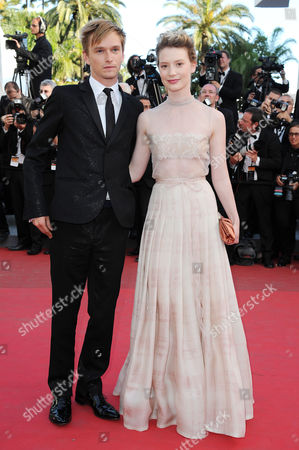 'Tree of Life' Red Carpet at the Palais Des Festivals During the 64th Cannes Film Festival Henry Hopper and Mia Wasikowska