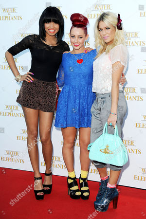 Stock Image of 'Water For Elephants' Uk Premiere at Westfield Shopping Centre Shepherds Bush Belle Amie - Esther Campbell Rebecca Creighton and Sophia Wardman