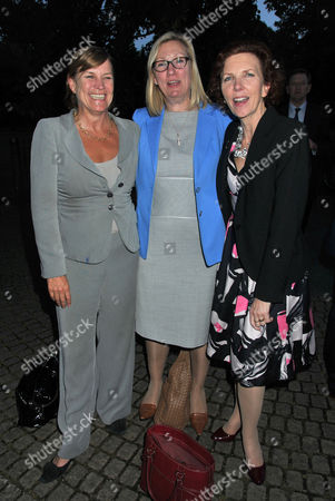 Stock Photo of 10th Anniversary of Portland Communications Consultancy at the Serpentine Gallery Kensington Gardens Anji Hunter Baroness Sue Nye and Baroness Janet Royall