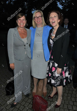 10th Anniversary of Portland Communications Consultancy at the Serpentine Gallery Kensington Gardens Anji Hunter Baroness Sue Nye and Baroness Janet Royall