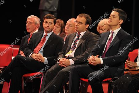 2010 Labour Conference at the Manchester Central Convention Complex - Monday Jack Straw Douglas Alexander Shaun Woodward Gareth Thomas and David Miliband