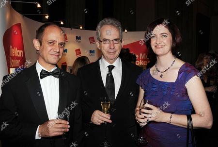 2010 Man Booker Prize For Fiction Champagne Reception at the Guildhall the City Damon Galgut Peter Carey and Emma Donoghue