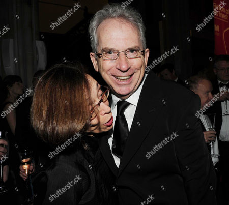 2010 Man Booker Prize For Fiction Champagne Reception at the Guildhall the City Peter Carey with His Partner Frances Coady