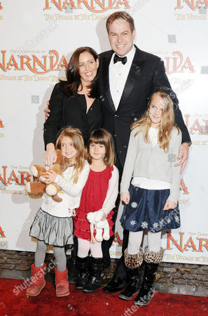 Stock Picture of Royal Film Performance World Premiere of 'Narnia: the Voyage of the Dawn Treader' at the Odeon Leicester Square Peter Jones with His Girlfriend Tara Capp and Their Daughters