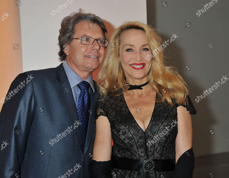 A Priceless Evening at Phillips De Pury & Company Howick Place Victoria London in Aid of the Journalism Foundation Jerry Hall with Her Boyfriend Warwick Hemsley