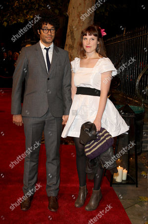 Awards Ceremony For the London Film Festival at the Lso St Lukes Old Street Richard Ayoade with His Wife Lydia Fox