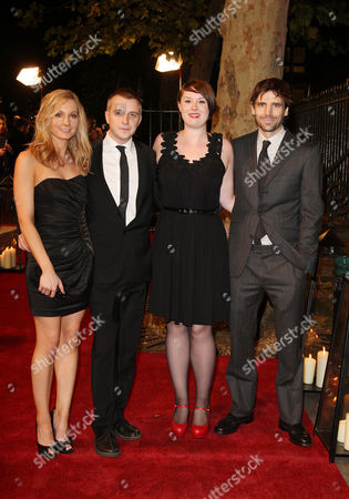 Stock Image of Awards Ceremony For the London Film Festival at the Lso St Lukes Old Street Joanne Froggatt Brian Welsh Michelle Eastwood and Mel Raido From 'In Our Name'