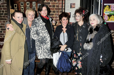 Backstage After 'Losing It' at the Menier Chocolate Factory Judith Owen Jennifer Saunders Professor Tanya Byron Ruby Wax Helena Bonham Carter and Her Mother Elena Propper De Callejon