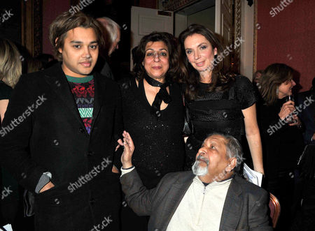 Bad Sex in Fiction Award at the in and out Club St James Square Pablo Ganguli Sir Vidiadhar Naipaul with His Wife Lady Nadira Naipaul and Nancy Sladek