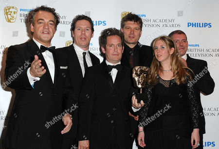 Bafta Television Awards Press Room at the Grosvenor House Hotel Situation Comedy - 'Rev' Kenton Allen James Wood Tom Hollander Peter Cattaneo and Hannah Pescod