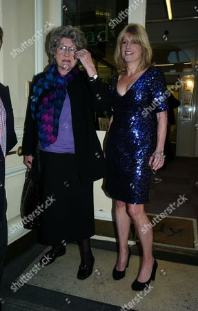 Book Launch Party For Diary of the Lady at the Lady Magazine Office Bedford Street Covent Garden London Julia Budworth with the Lady Editor Rachel Johnson