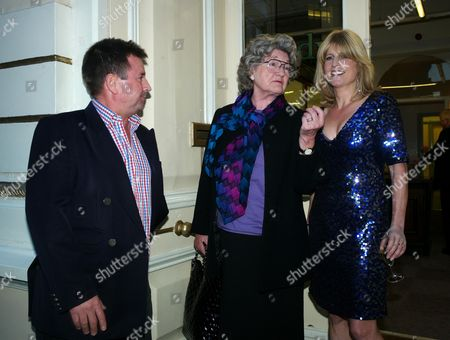 Book Launch Party For Diary of the Lady at the Lady Magazine Office Bedford Street Covent Garden London Ben & Julia Budworth with the Lady Editor and Author of the Book Rachel Johnson