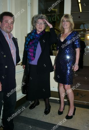 Book Launch Party For Diary of the Lady at the Lady Magazine Office Bedford Street Covent Garden London Ben & Julia Budworth with the Lady Editor Rachel Johnson
