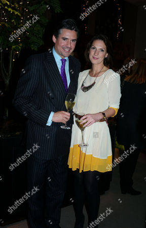Paddy Byng of Asprey and Stephen Quinn of Vogue Host A Cocktail Party to Celebrate the Launch of Carol Woolton's Book 'Drawing Jewels For Fashion' at Asprey's Store New Bond Street Mayfair London Edward Taylor and Sarah Langsford