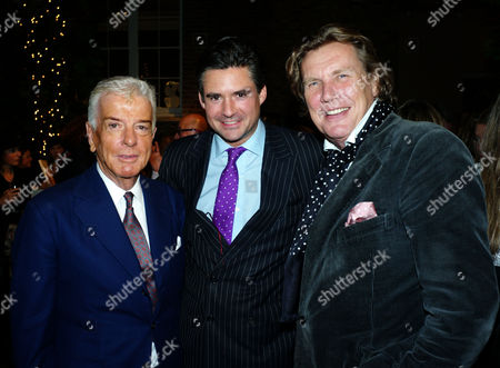 Paddy Byng of Asprey and Stephen Quinn of Vogue Host A Cocktail Party to Celebrate the Launch of Carol Woolton's Book 'Drawing Jewels For Fashion' at Asprey's Store New Bond Street Mayfair London Nicky Haslam Edward Taylor & Theo Fennell