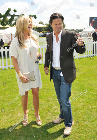 Cartier International Polo at Guards Polo Club Great Windsor Park Tina Hobley with Her Husband Oliver Wheeler