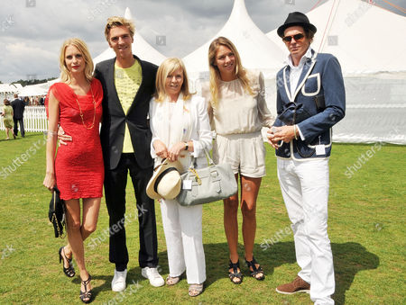 Cartier International Polo at Guards Polo Club Great Windsor Park Poppy Delevingne with Her Boyfriend James Cook His Mother Adele Cook and Her Daughter Tory Cook with Her Boyfriend Hugo Heathcote